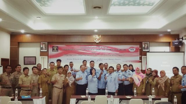Bimbingan Teknis JDIH bersama Kementerian Hukum dan HAM Banten