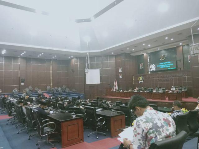 Rapat Paripurna Penyampaian Raperda Usul Walikota Serang