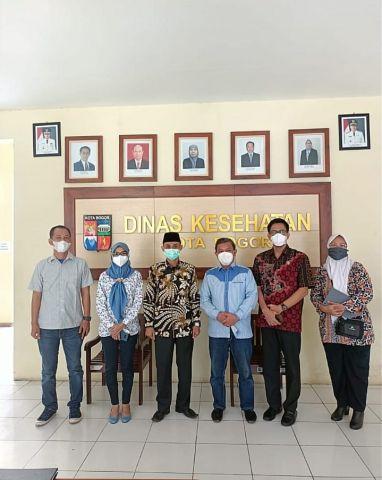 Mendampingi Pansus Raperda tentang Raperda Pelayanan Kesehatan ke Dinas Kesehatan Kota Bogor